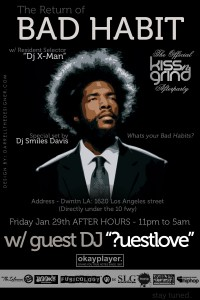 Questlove After Hours Friday Downtown LA 